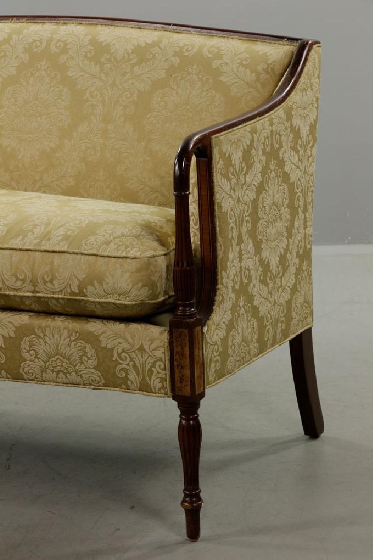 Sheraton Style Mahogany Sofa, Yellow/Gold - 2