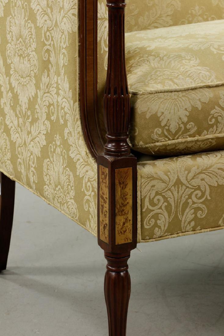 Sheraton Style Mahogany Sofa, Yellow/Gold - 5