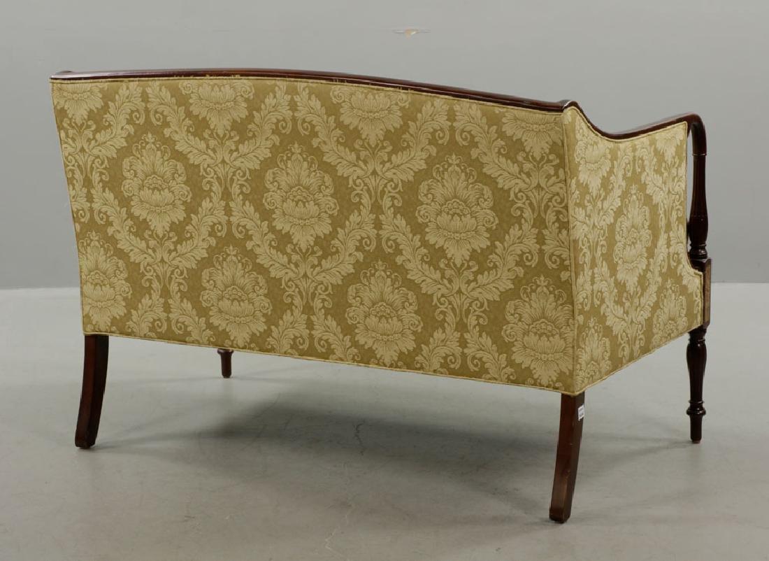 Sheraton Style Mahogany Sofa, Yellow/Gold - 6