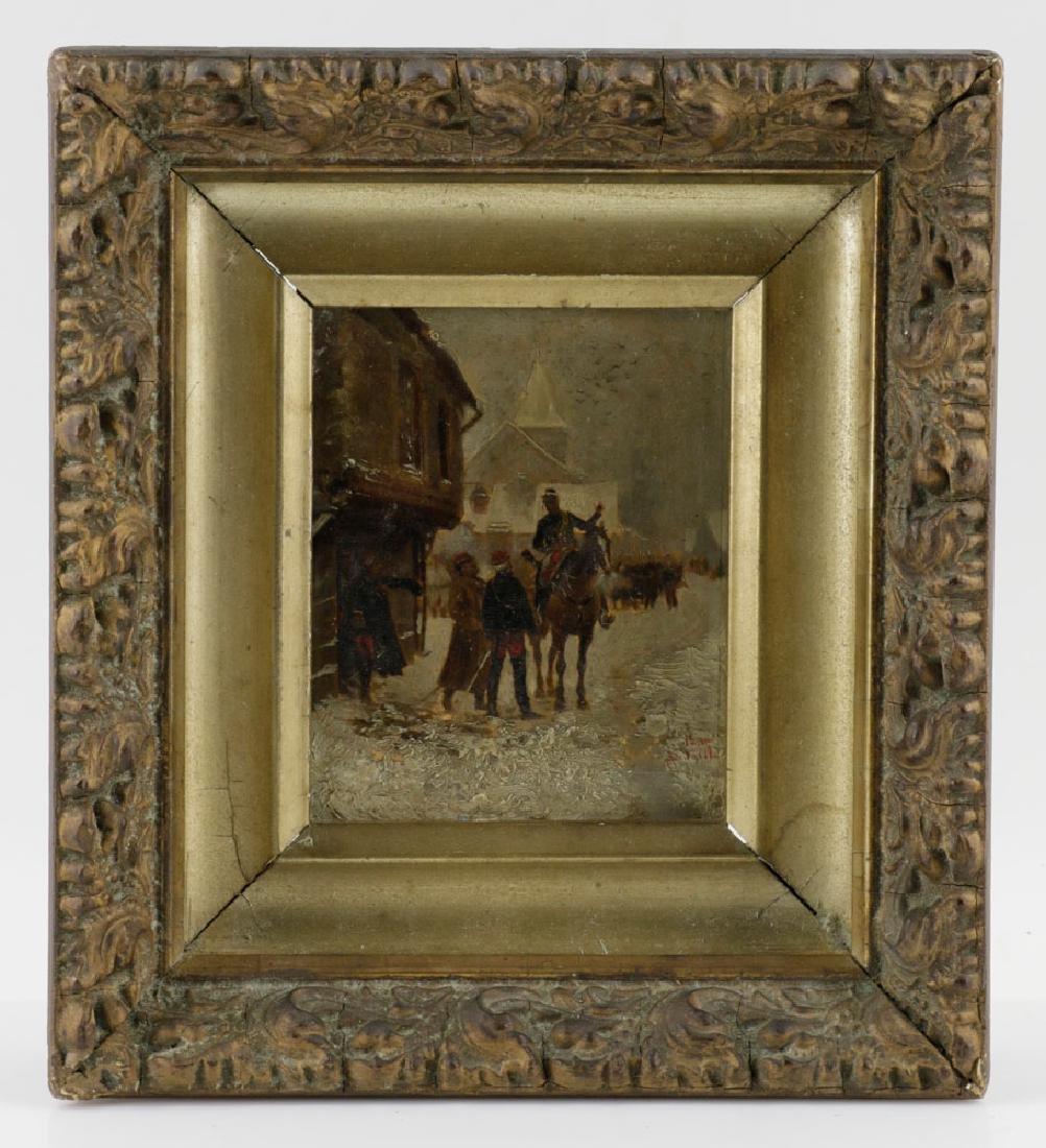 Edouard Detaille, Soldiers on Horseback, Oil on Panel