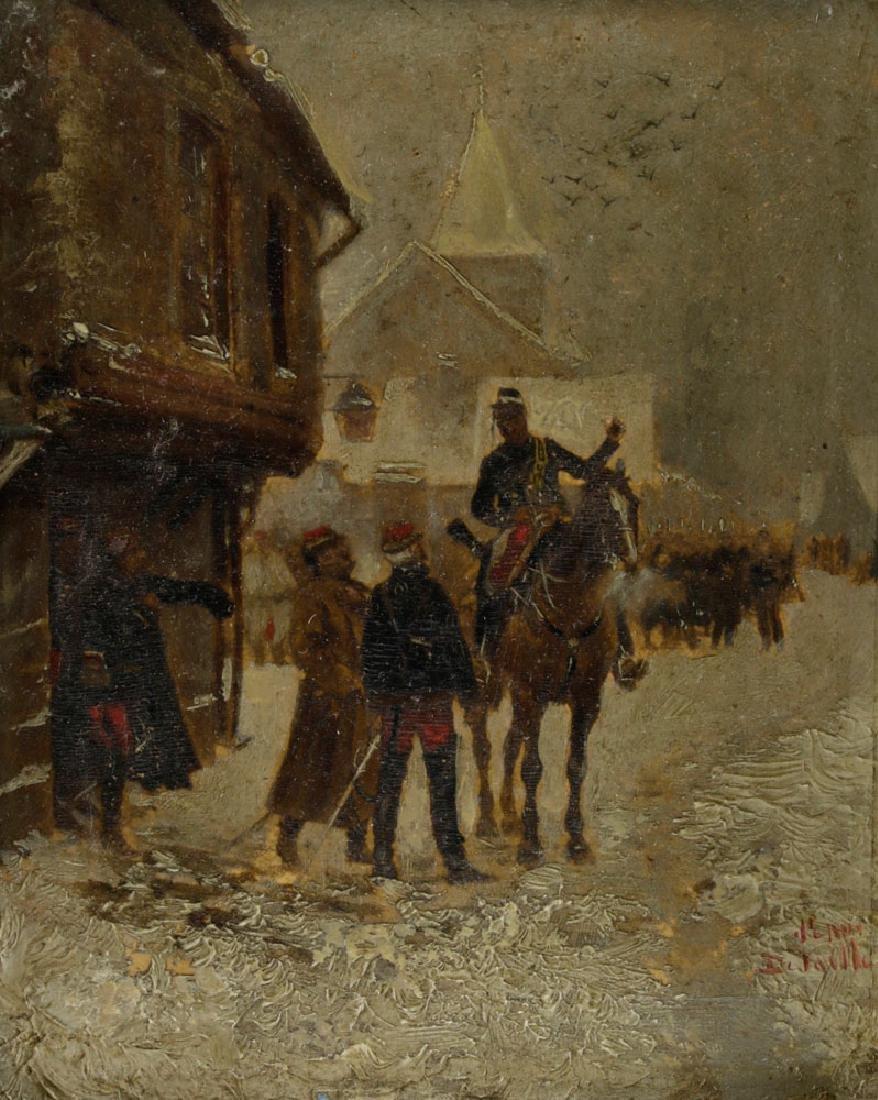 Edouard Detaille, Soldiers on Horseback, Oil on Panel - 2
