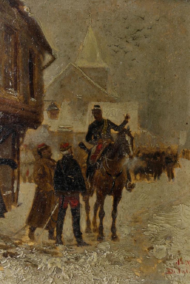 Edouard Detaille, Soldiers on Horseback, Oil on Panel - 3