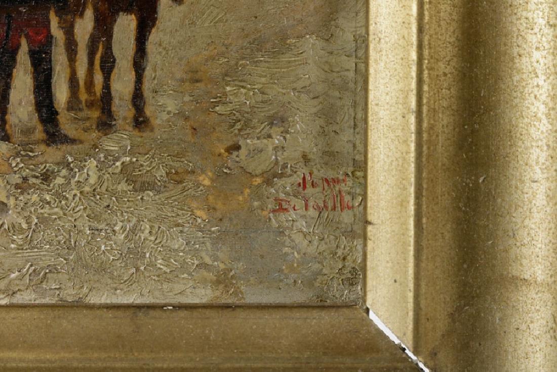 Edouard Detaille, Soldiers on Horseback, Oil on Panel - 4