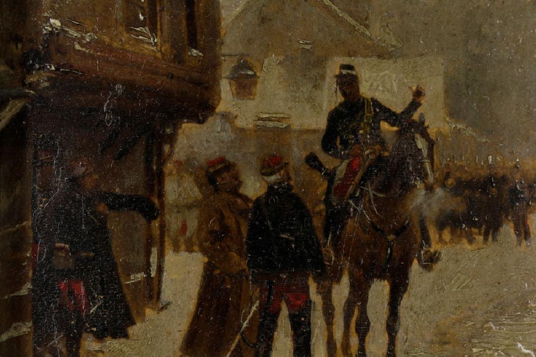 Edouard Detaille, Soldiers on Horseback, Oil on Panel - 5