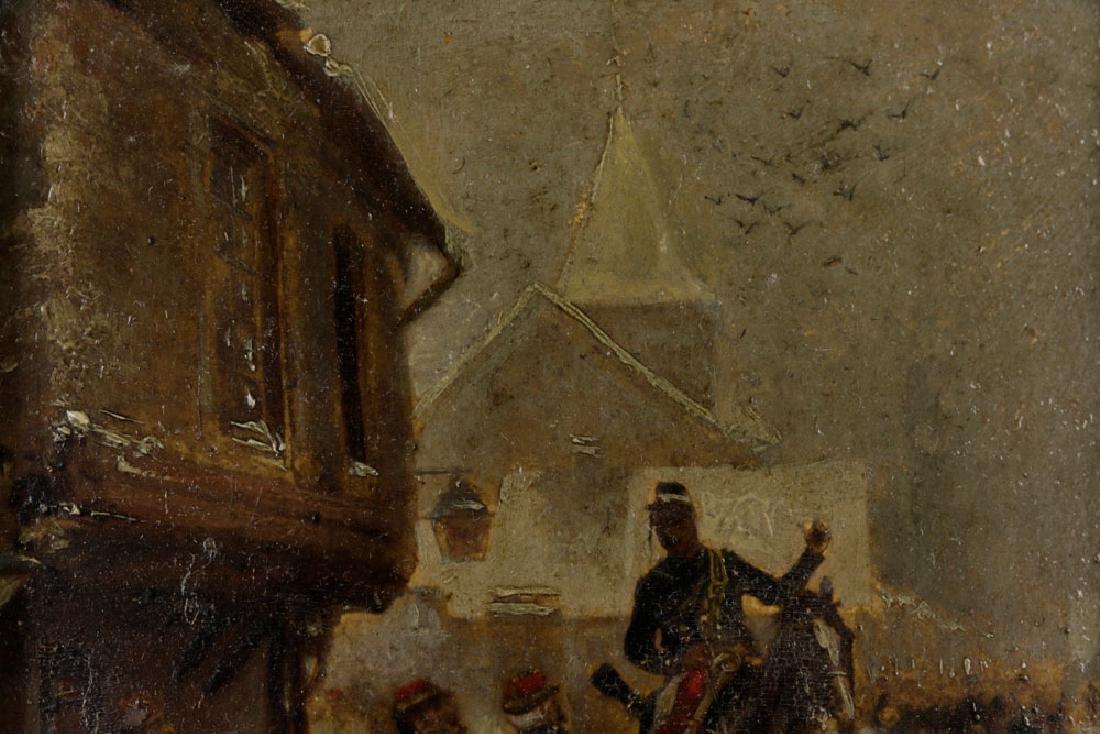Edouard Detaille, Soldiers on Horseback, Oil on Panel - 6