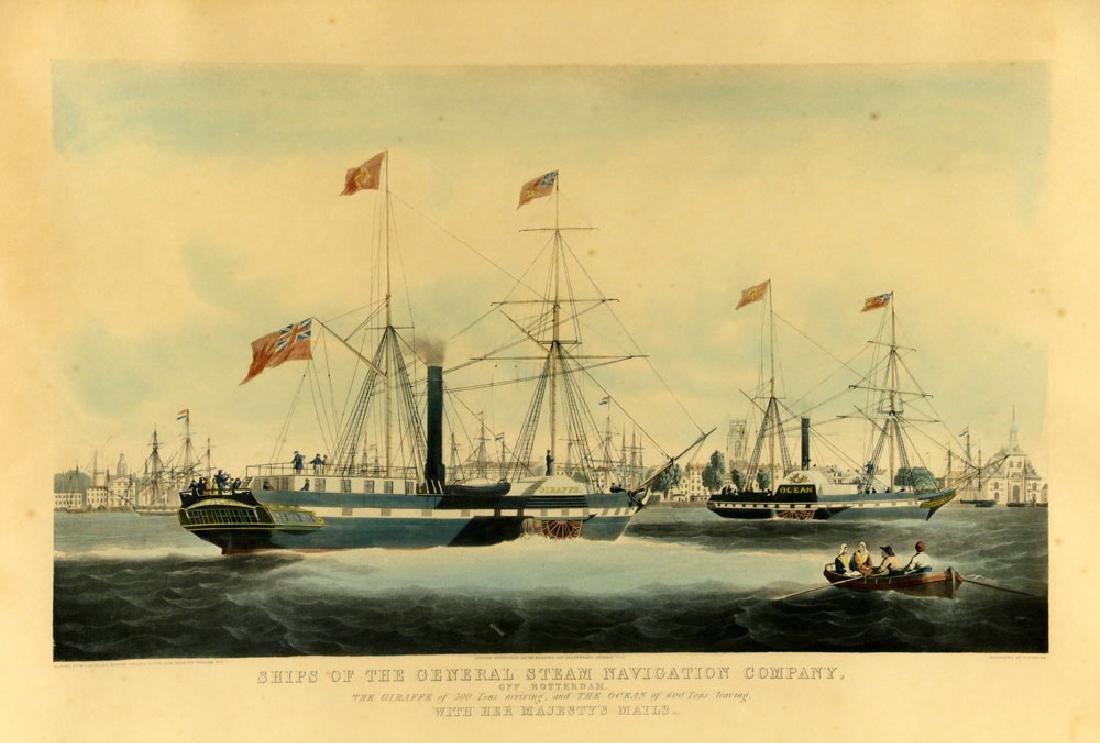 W.J. Huggins Marine Handcolored Print - 2