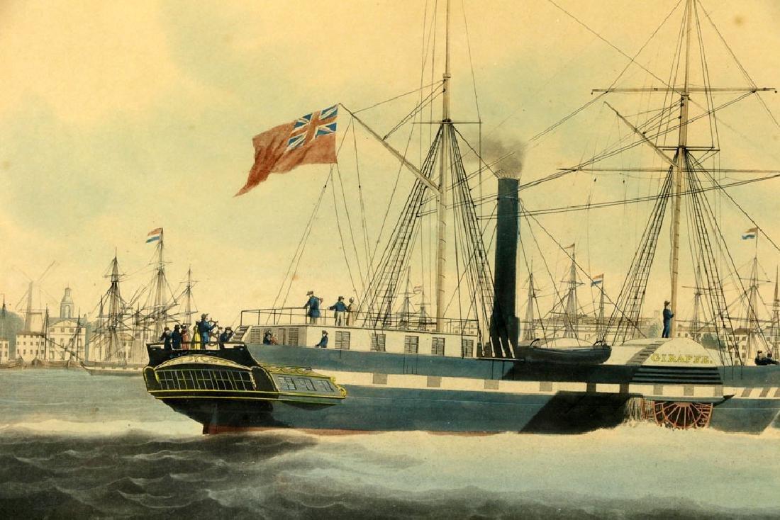 W.J. Huggins Marine Handcolored Print - 4