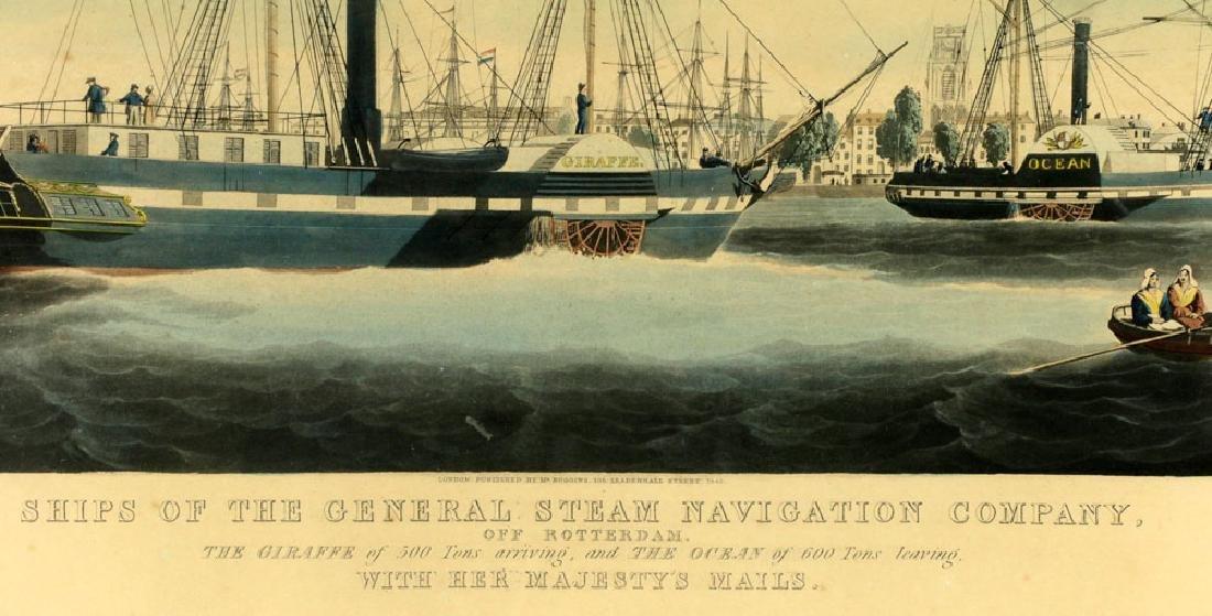 W.J. Huggins Marine Handcolored Print - 5