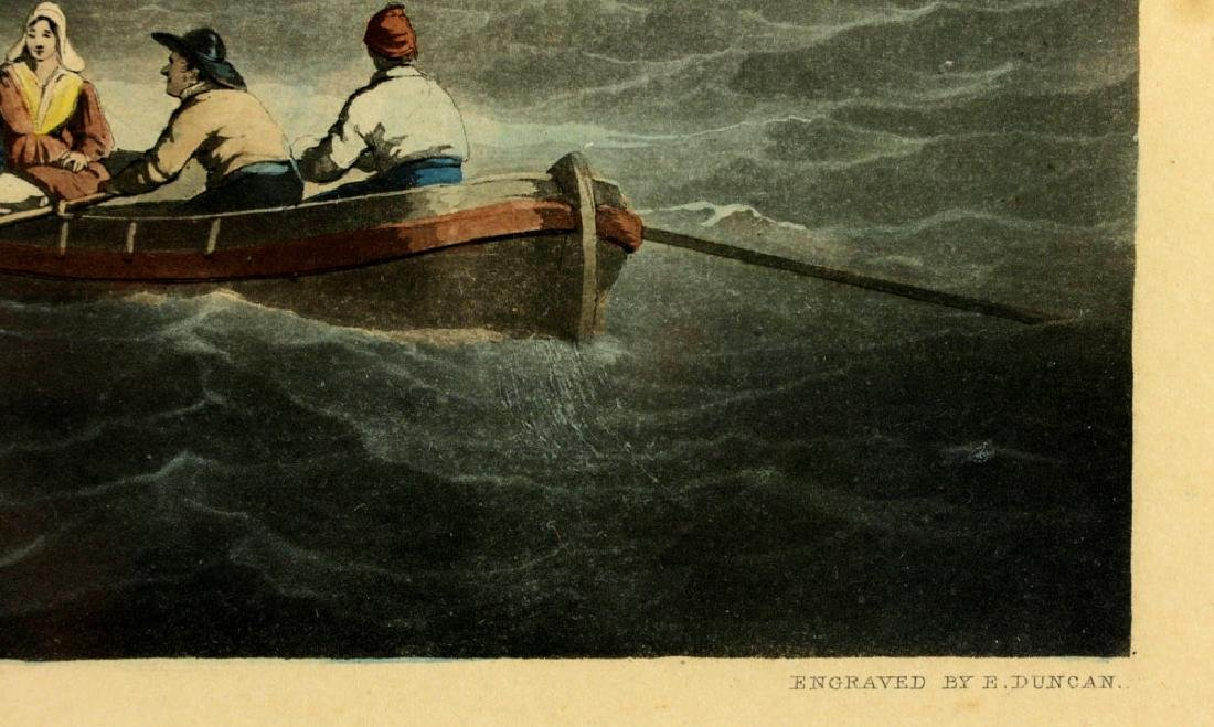 W.J. Huggins Marine Handcolored Print - 6