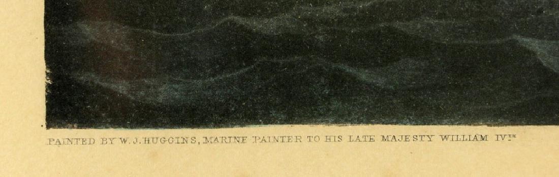 W.J. Huggins Marine Handcolored Print - 7