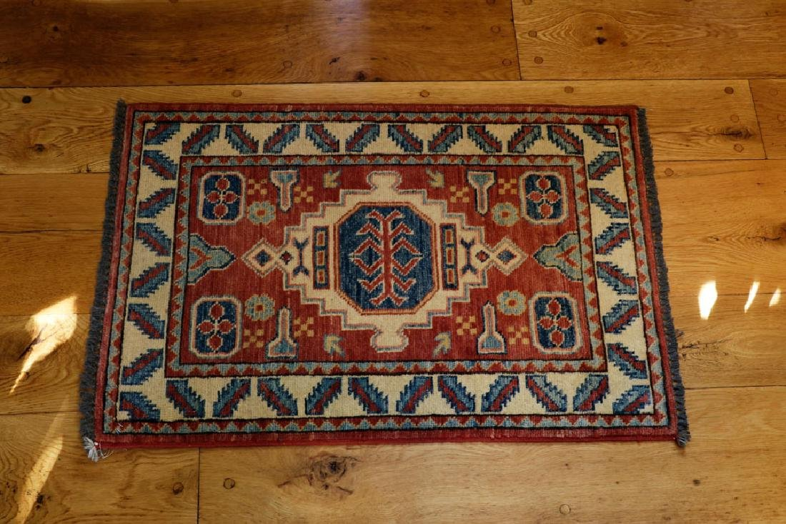Semi-antique Small Kazak Rug - 2