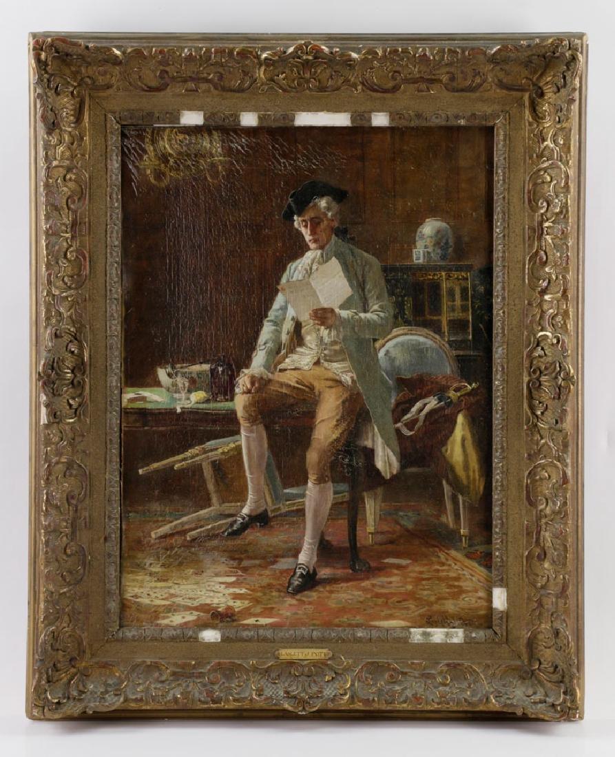 Laslett John Pott, Gentleman w/ Letter, Oil on Canvas