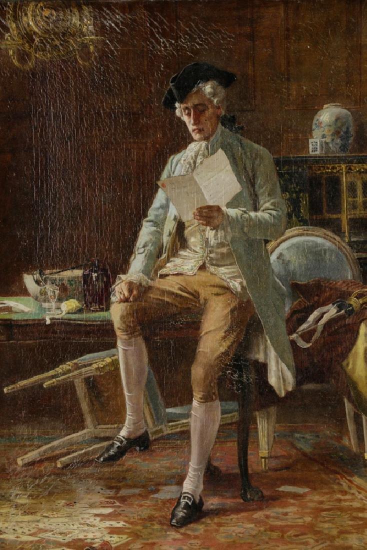 Laslett John Pott, Gentleman w/ Letter, Oil on Canvas - 2