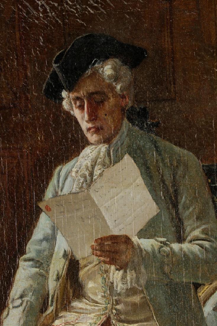 Laslett John Pott, Gentleman w/ Letter, Oil on Canvas - 3