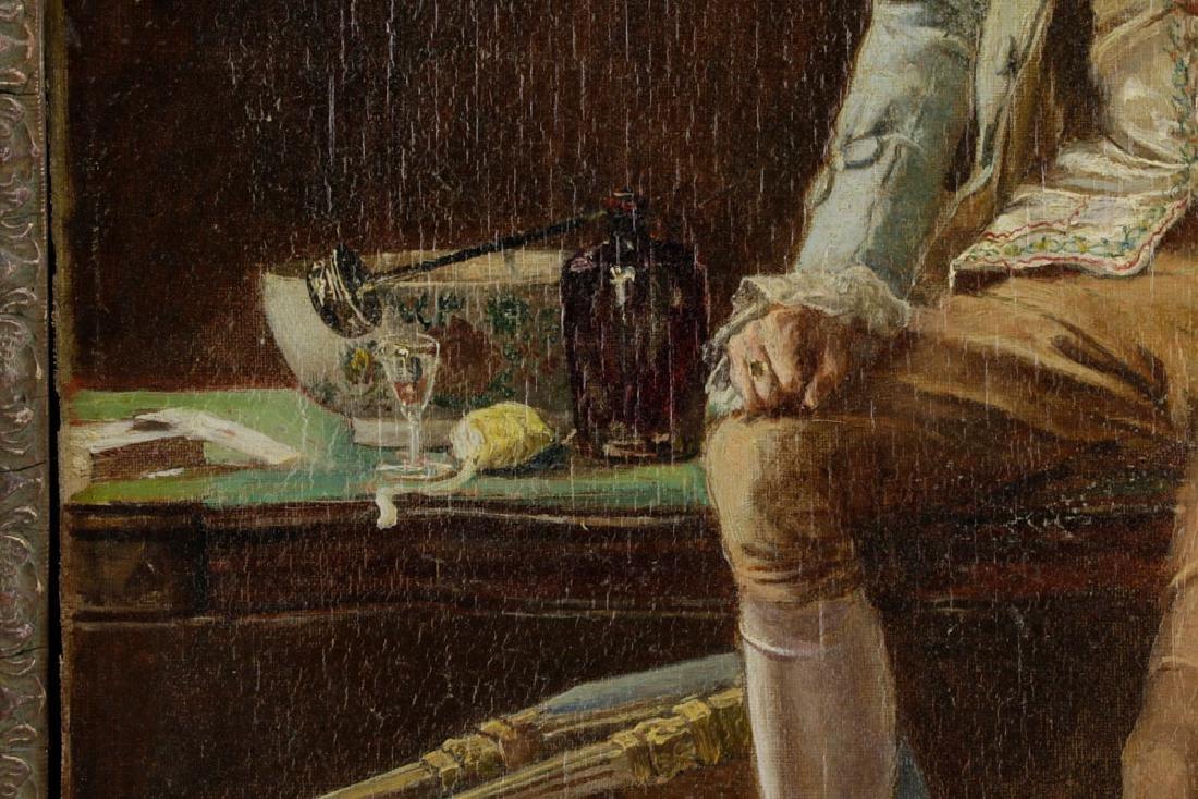 Laslett John Pott, Gentleman w/ Letter, Oil on Canvas - 4