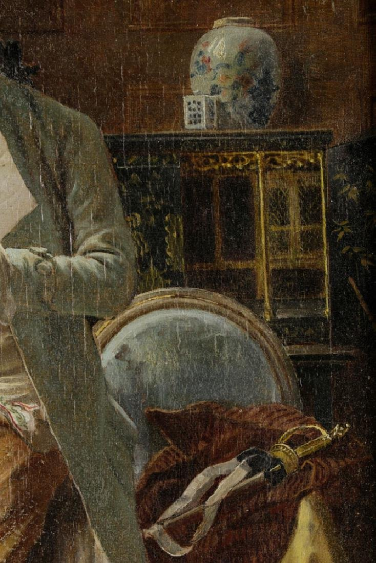Laslett John Pott, Gentleman w/ Letter, Oil on Canvas - 5