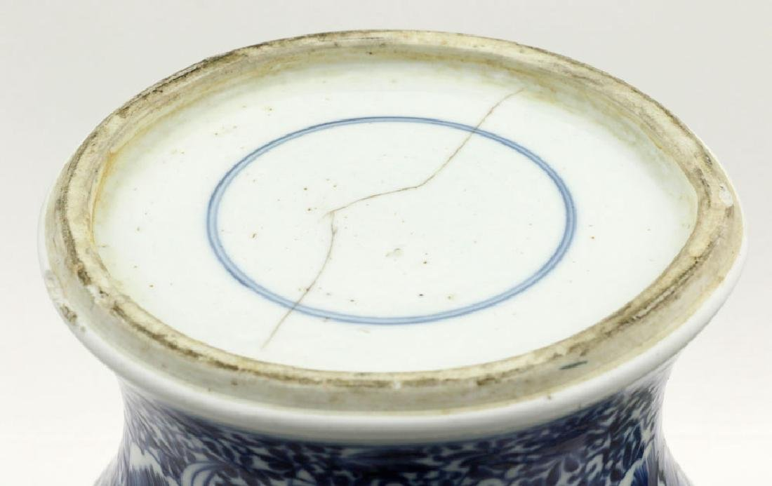 18th/19th C. Chinese Blue & White Covered Jar - 7
