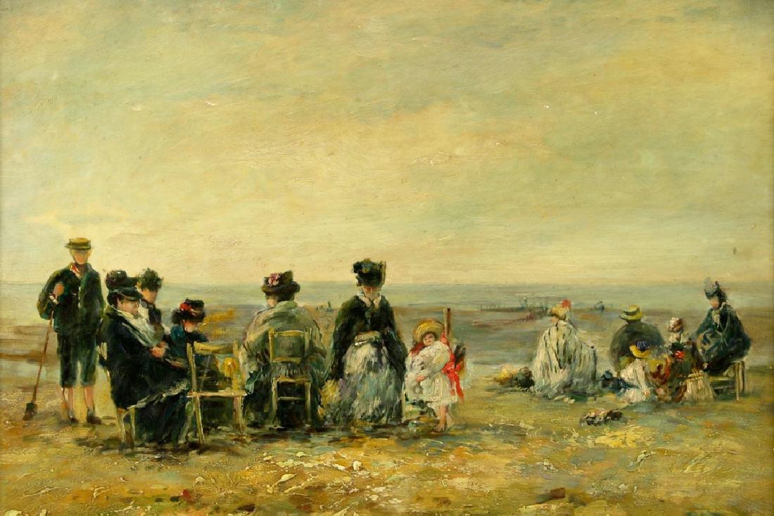 Claude Cahill Cooper, Beach Scene, Oil on Board - 2