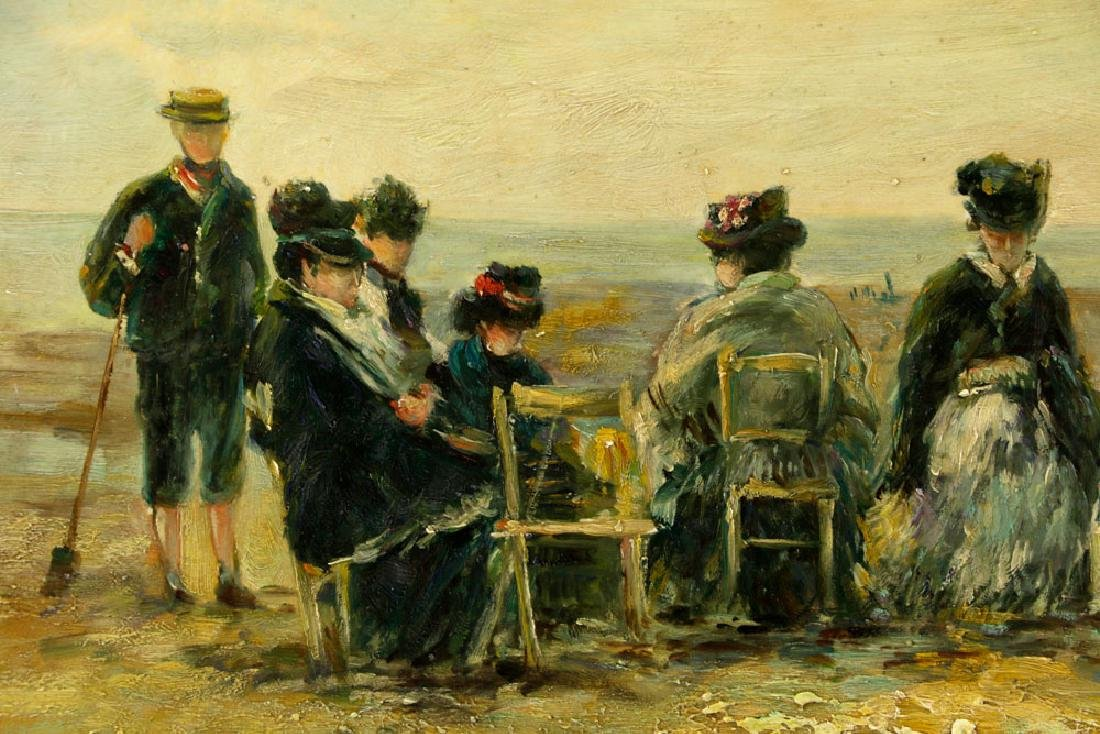 Claude Cahill Cooper, Beach Scene, Oil on Board - 3