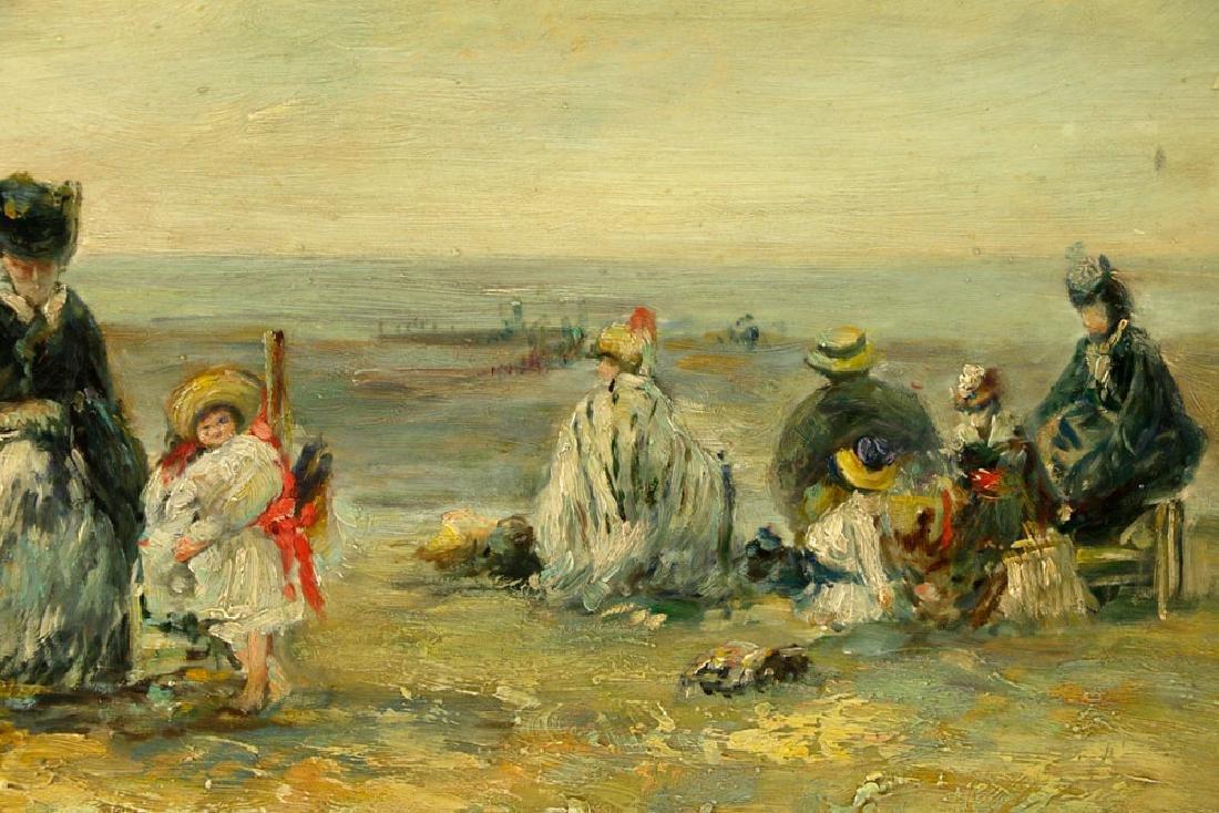 Claude Cahill Cooper, Beach Scene, Oil on Board - 4