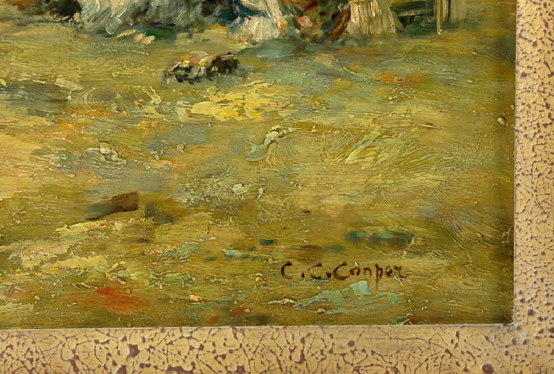 Claude Cahill Cooper, Beach Scene, Oil on Board - 5