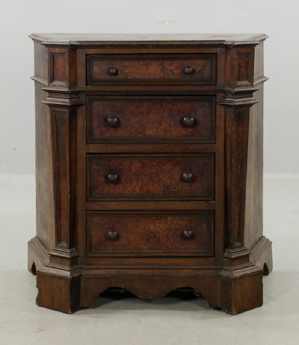 18th C. Italian 4-Drawer Commode