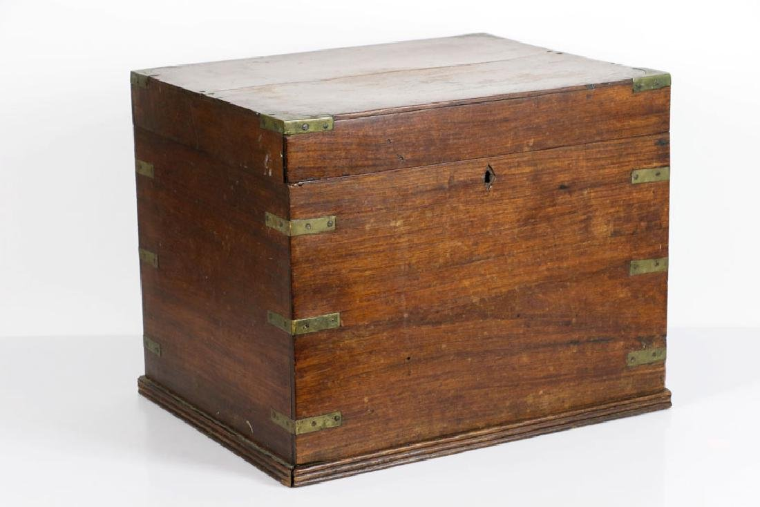 Early 19th C. English Hardwood Liquor Chest