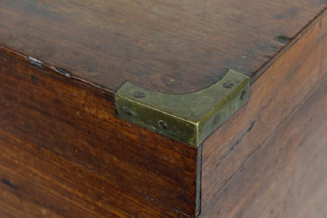 Early 19th C. English Hardwood Liquor Chest - 5
