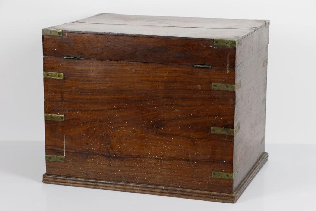 Early 19th C. English Hardwood Liquor Chest - 6