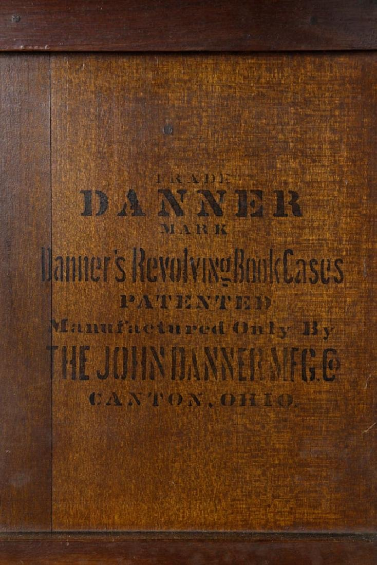 Large Revolving Bookcase Labeled Danner - 2