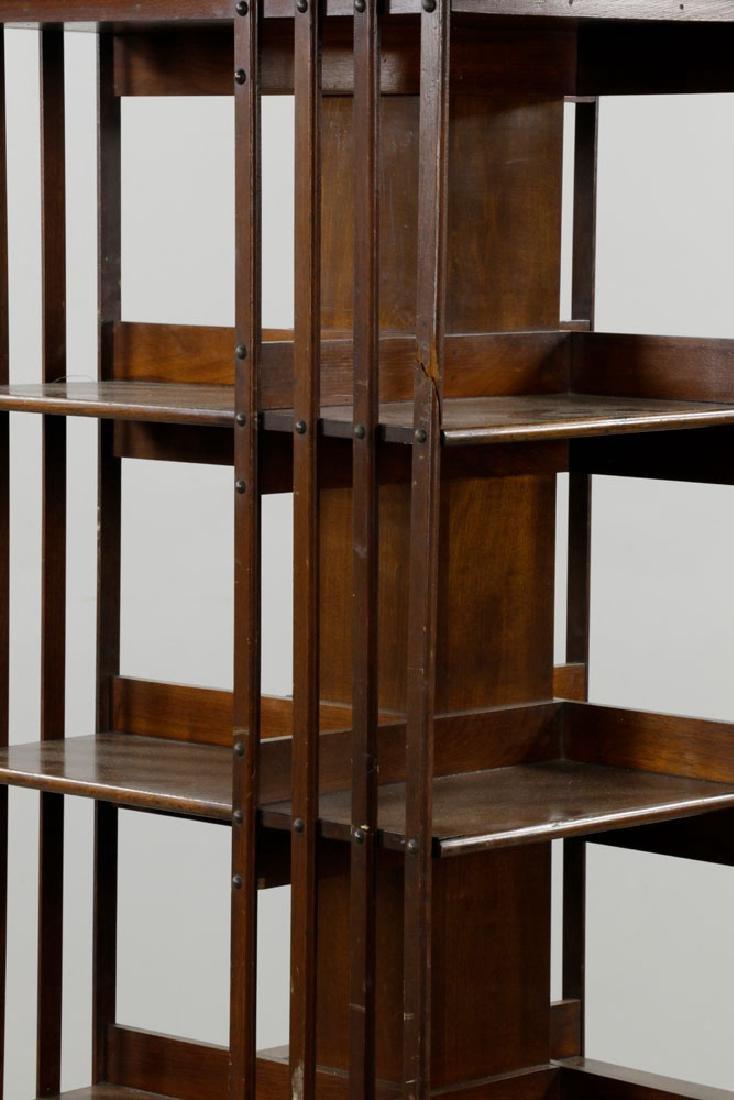 Large Revolving Bookcase Labeled Danner - 3