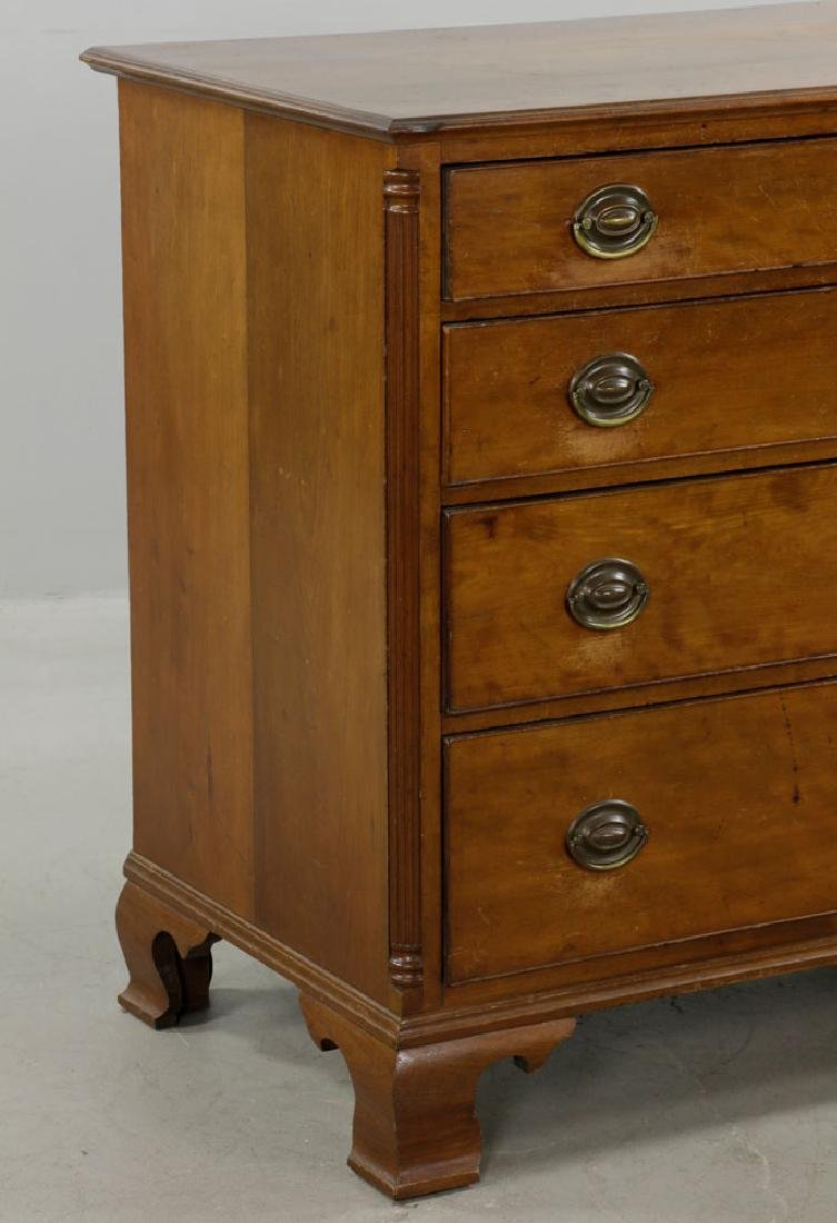Late 18th C. Chippendale Cherry Chest of Drawers - 2