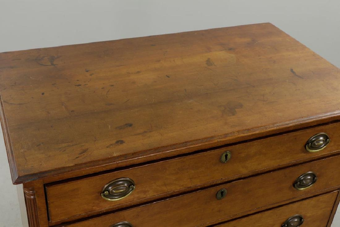 Late 18th C. Chippendale Cherry Chest of Drawers - 4