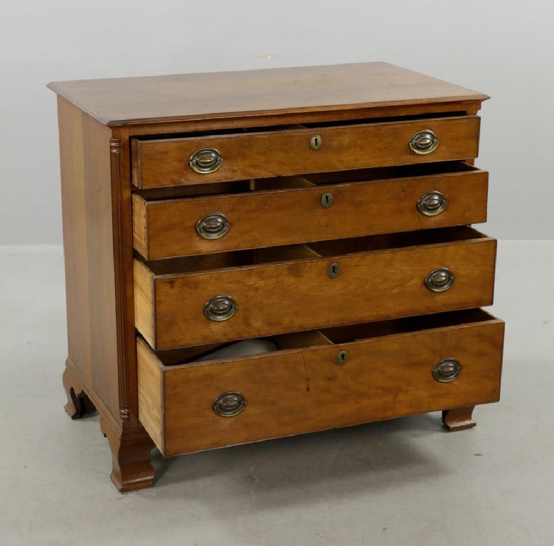 Late 18th C. Chippendale Cherry Chest of Drawers - 5