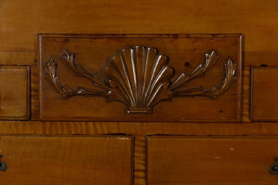 18th C. Tiger Maple Chippendale Chest on Frame - 6