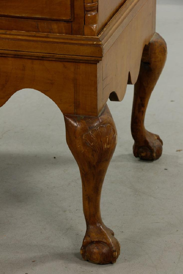 18th C. Tiger Maple Chippendale Chest on Frame - 8