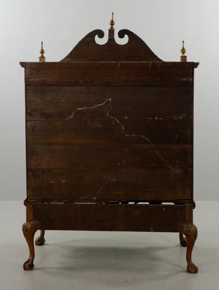 18th C. Tiger Maple Chippendale Chest on Frame - 9