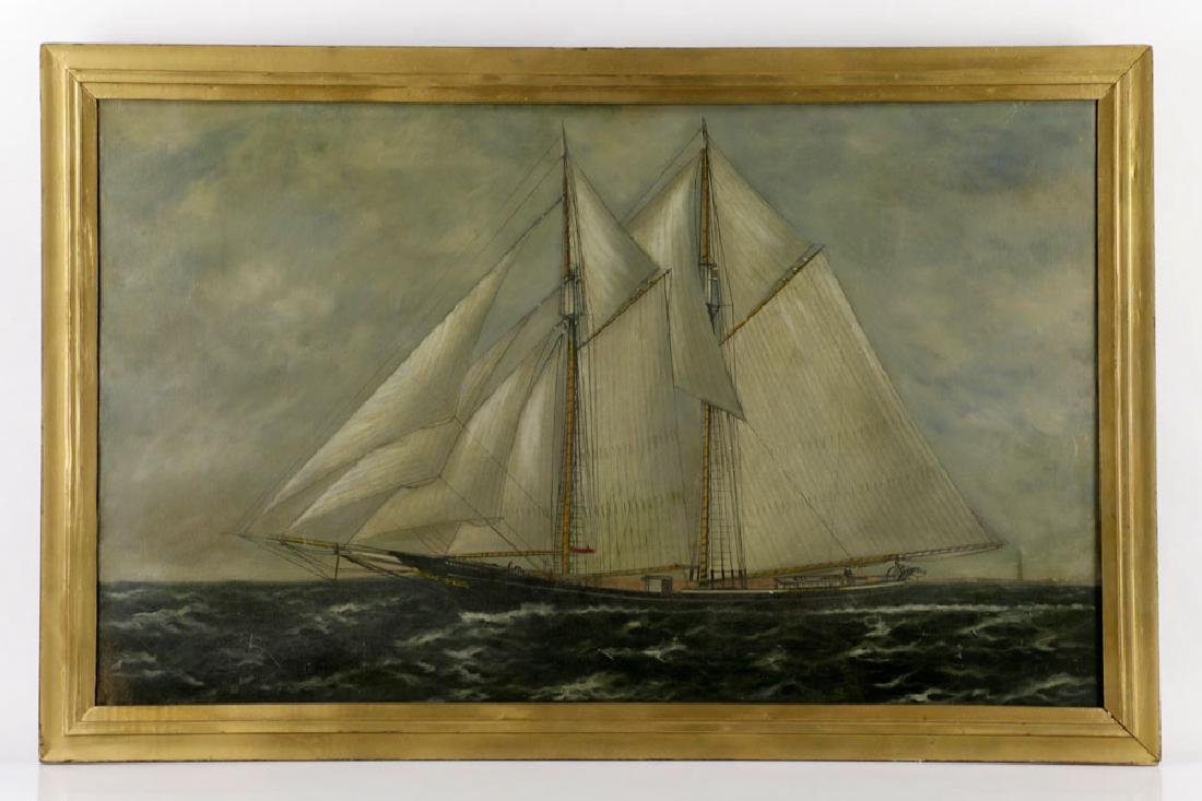 William P. Stubbs, Ship Under Full Sail, Oil on Canvas
