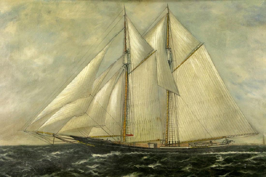 William P. Stubbs, Ship Under Full Sail, Oil on Canvas - 2
