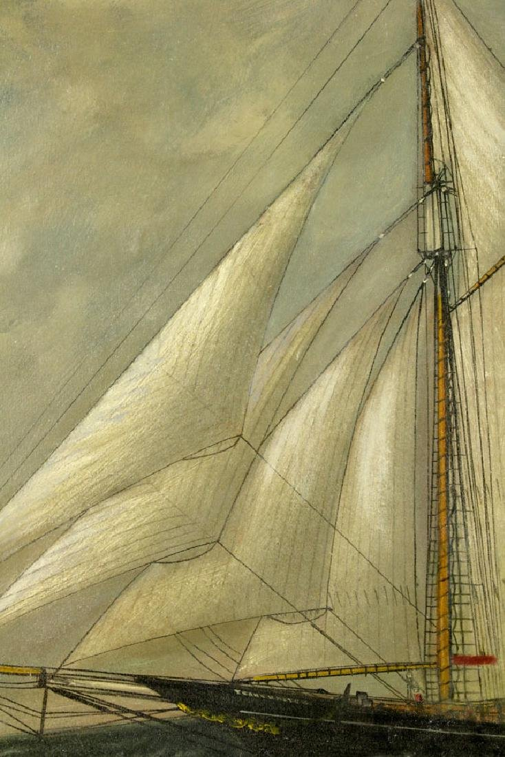 William P. Stubbs, Ship Under Full Sail, Oil on Canvas - 3