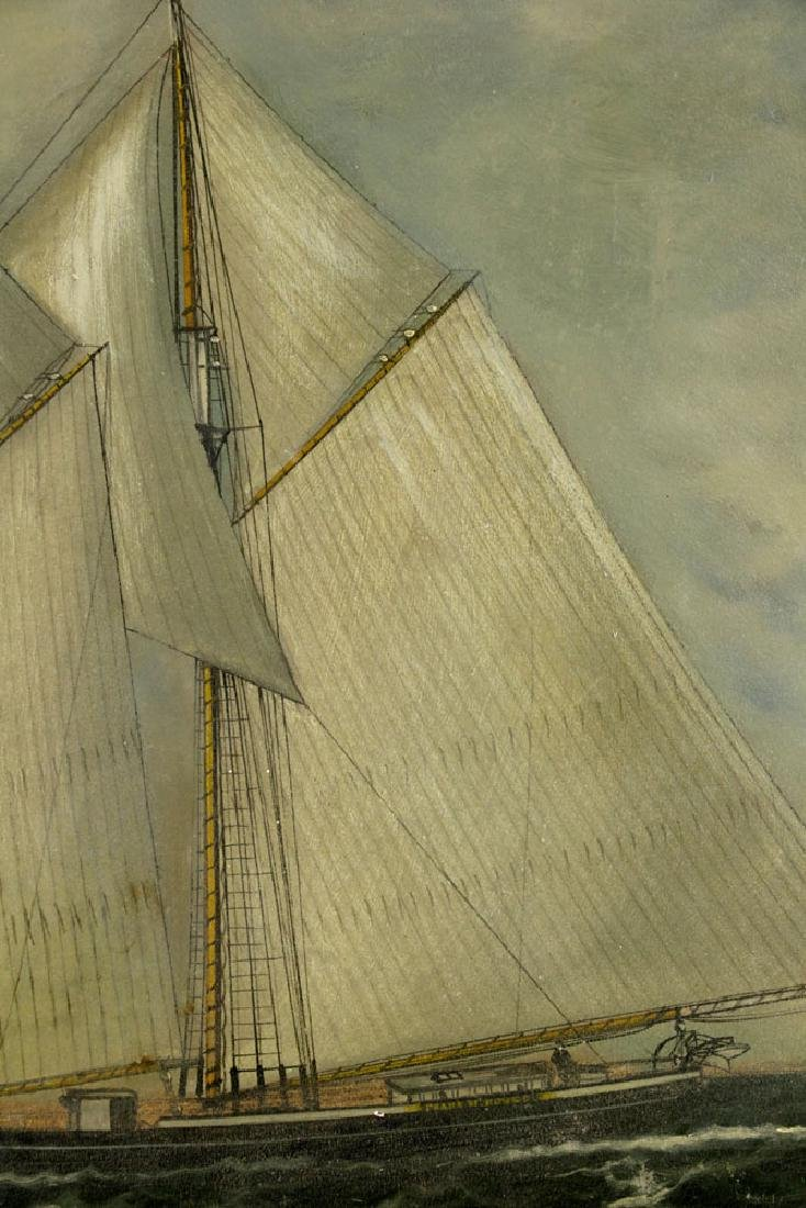 William P. Stubbs, Ship Under Full Sail, Oil on Canvas - 4