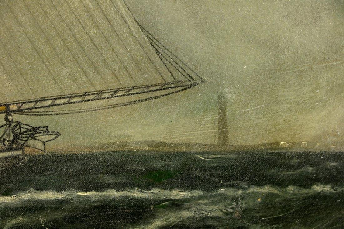 William P. Stubbs, Ship Under Full Sail, Oil on Canvas - 6
