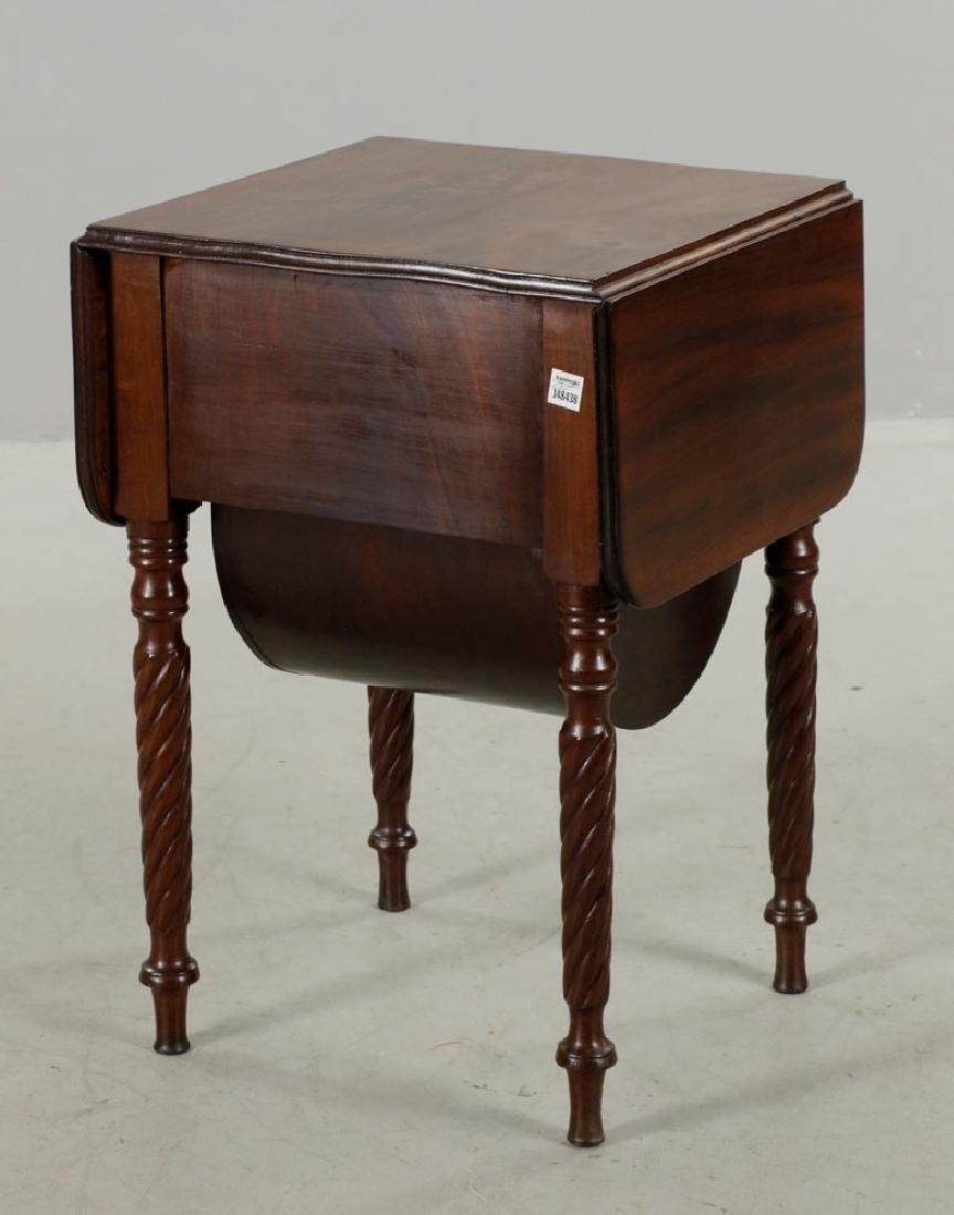 Eastern Mass. 3-Drawer Drop-Leaf Sewing Table - 5