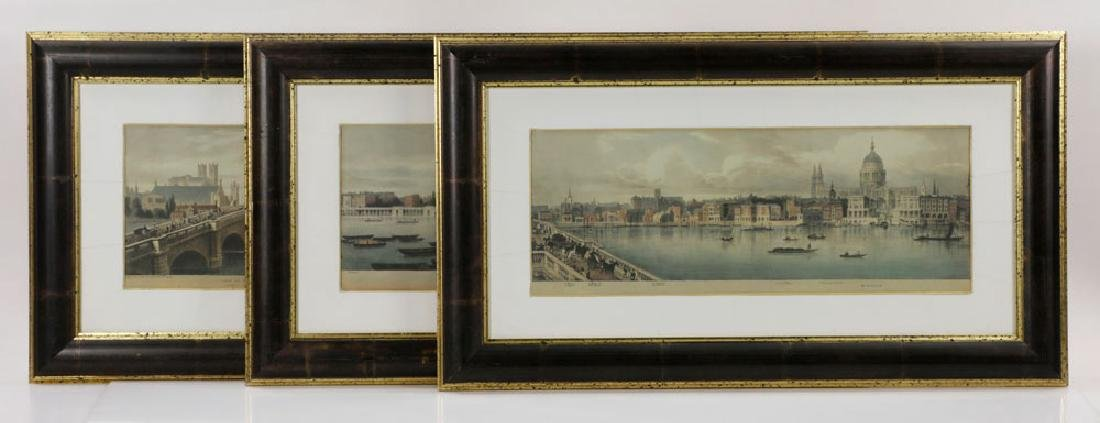 Lot of (3) Views of London, Framed