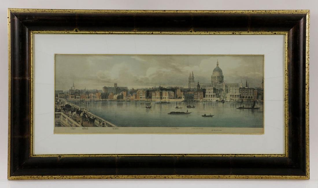 Lot of (3) Views of London, Framed - 4