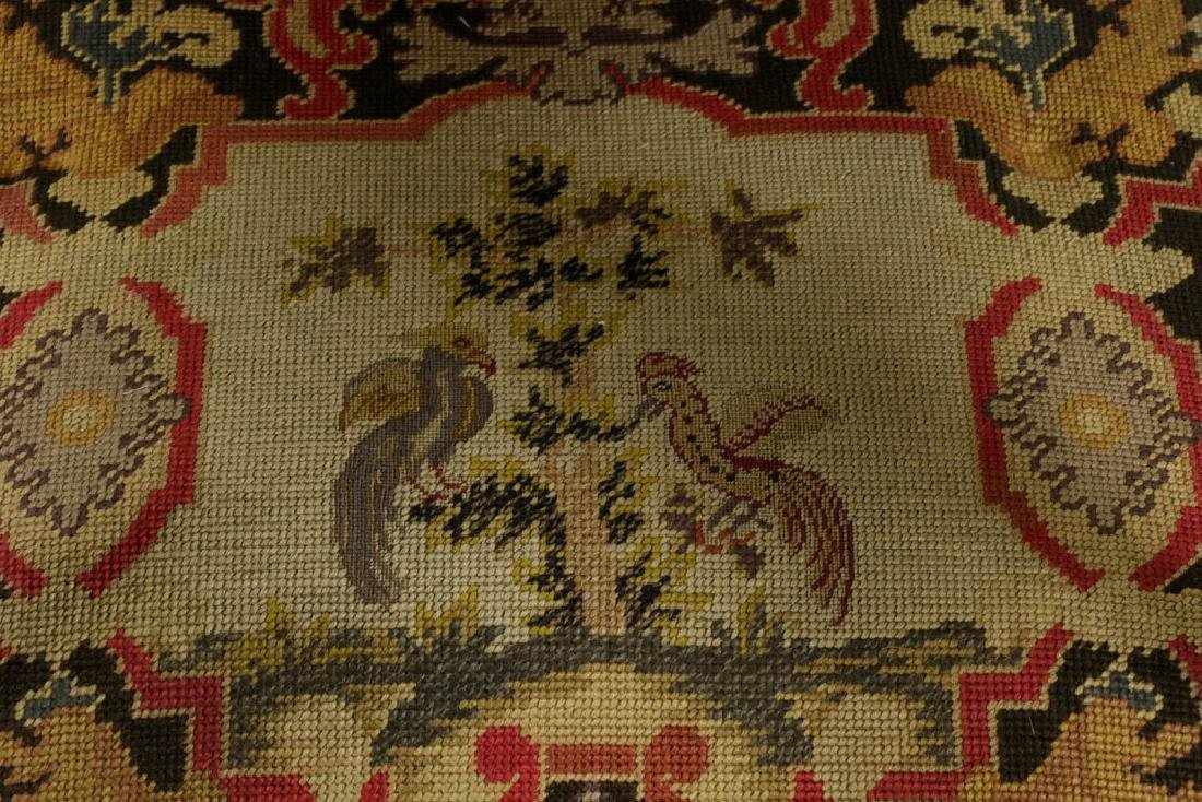 Louis XIV Style Needlepoint Lolling Chair - 4