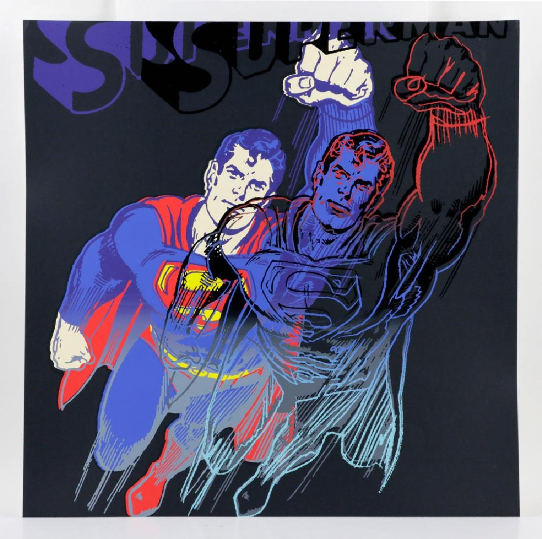 "Andy Warhol ""Superman"" Silkscreen"