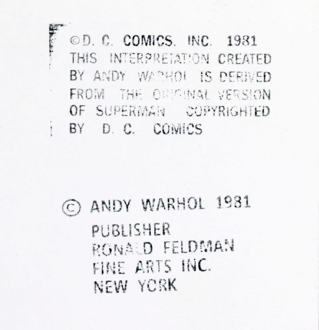 "Andy Warhol ""Superman"" Silkscreen - 7"
