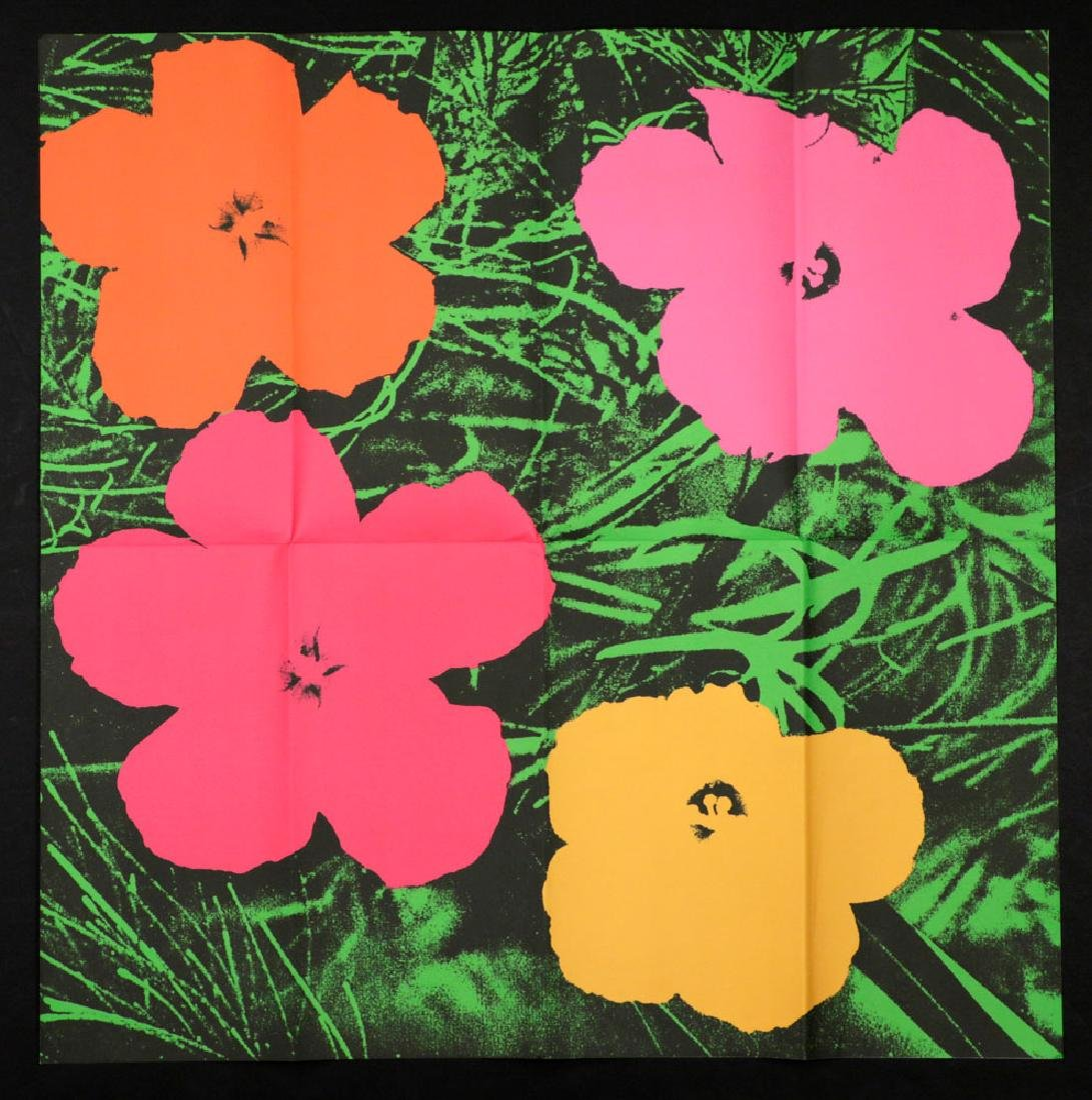 """Andy Warhol """"Flowers"""" Litho Mailer"""