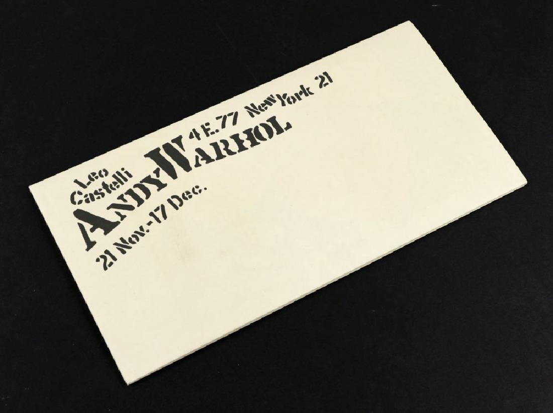 """Andy Warhol """"Flowers"""" Litho Mailer - 2"""